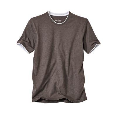 Herren-T-Shirt mit Kontrast-Saum