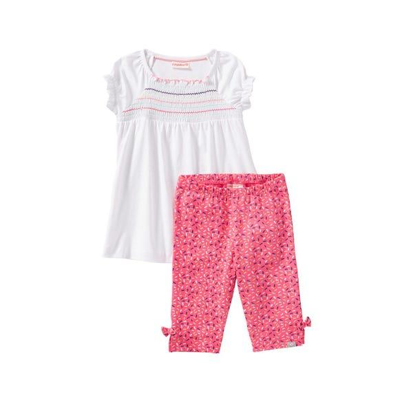 Baby-Mädchen-Set mit Zierschleifen, 2-teilig