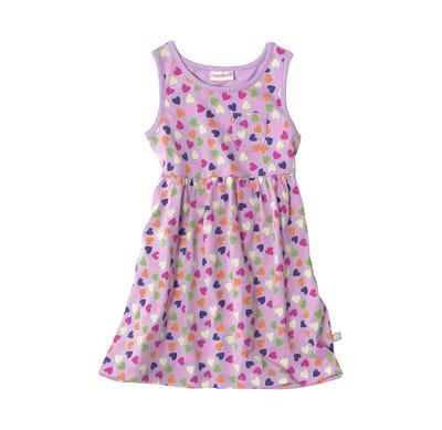 Baby-Mädchen-Kleid mit bunten Herzen