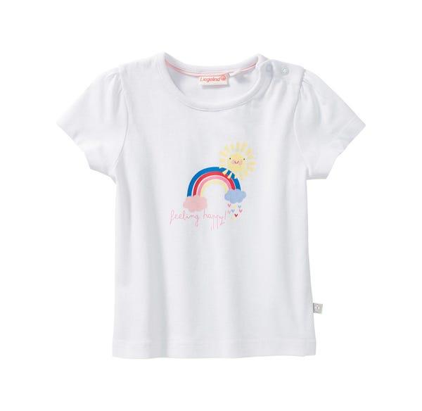 Baby-Mädchen-T-Shirt mit Regenbogen-Frontaufdruck