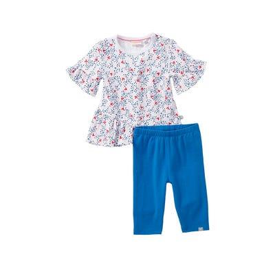 Baby-Mädchen-Set mit Herz-Muster, 2-teilig