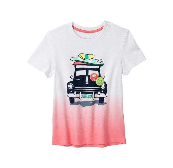 Jungen-T-Shirt mit Dip-Dye-Effekt