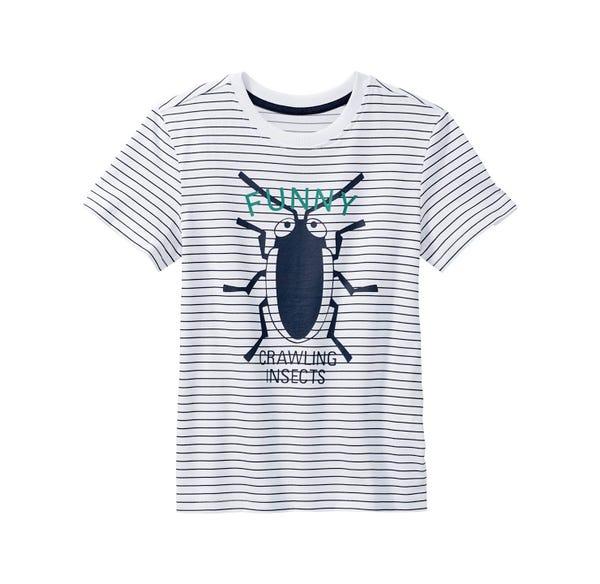 Jungen-T-Shirt mit Käfer-Frontaufdruck