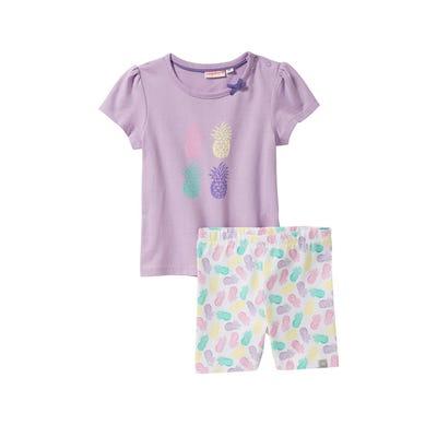 Baby-Mädchen-Set mit Ananas-Muster, 2-teilig