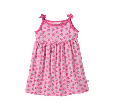 Baby-Mädchen-Kleid mit Erdbeer-Muster