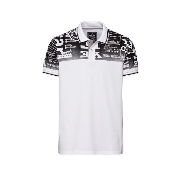 Herren-Poloshirt mit angesagtem Druck