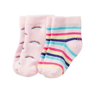 Baby-Mädchen-Sneaker-Socken mit Streifen, 3er Pack