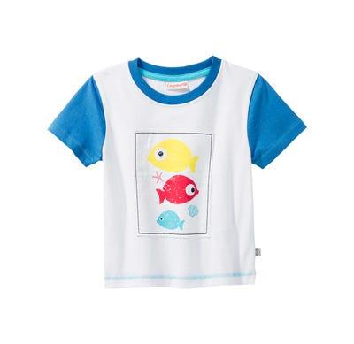 Baby-Jungen-T-Shirt mit Meeres-Applikation