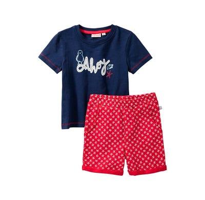 Baby-Jungen-Set mit Seestern-Muster, 2-teilig