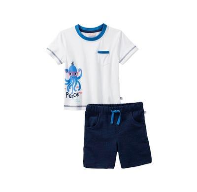Baby-Jungen-Set mit Kraken-Aufdruck, 2-teilig