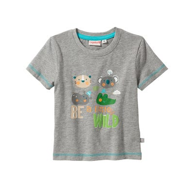 Jungen-T-Shirt mit Tier-Frontaufdruck