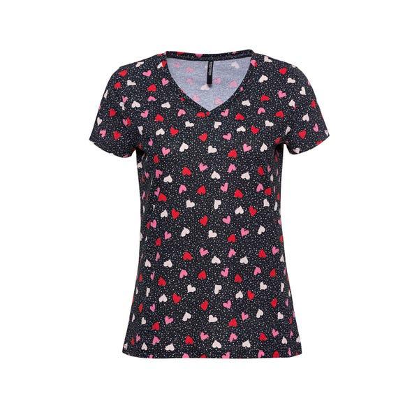 Damen-T-Shirt mit trendigem Muster