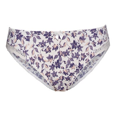Damen-Minislip mit floralem Muster