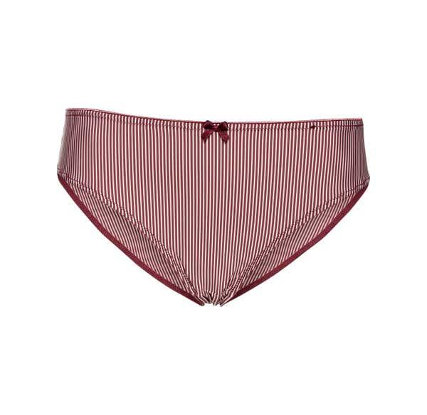 Damen-Minislip mit Nadelstreifen-Muster
