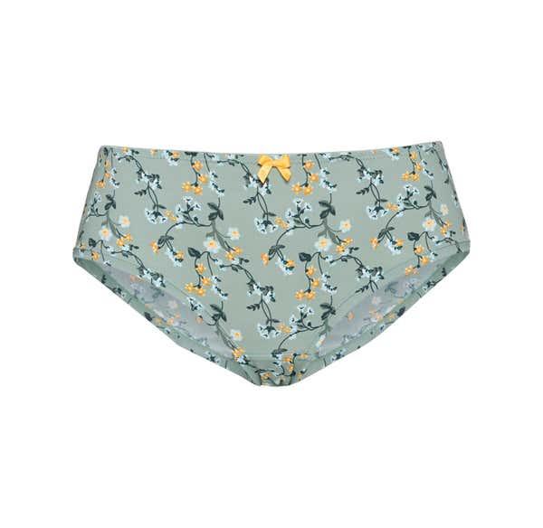 Damen-Panty mit trendigem Blumendesign