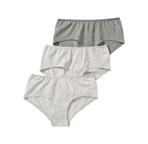 Damen-Panty in Melange-Optik, 3er Pack
