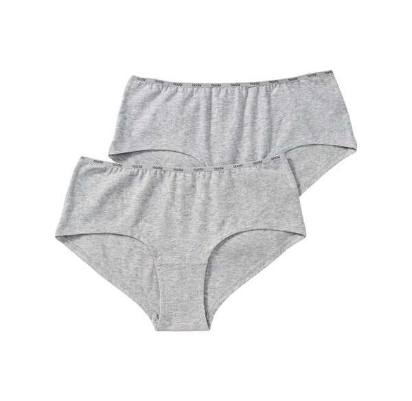 Damen-Panty mit bedrucktem Bund, 2er Pack