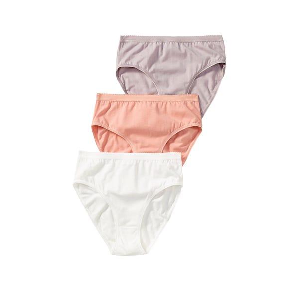 Damen-Taillenslip mit verziertem Bund, 3er Pack
