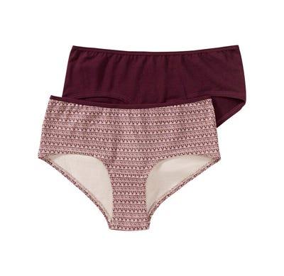 Damen-Panty mit schickem Muster, 2er Pack