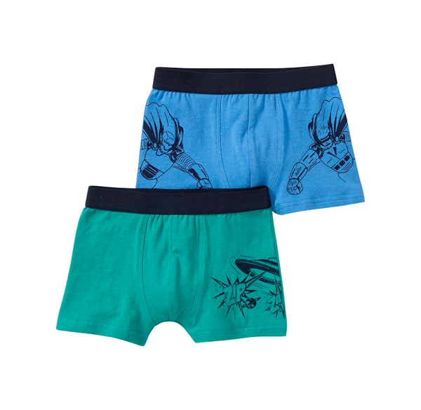 Jungen-Retroshorts mit Action-Motiven, 2er Pack