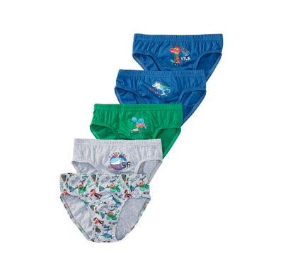 Jungen-Slip mit Dino-Aufdruck, 5er Pack