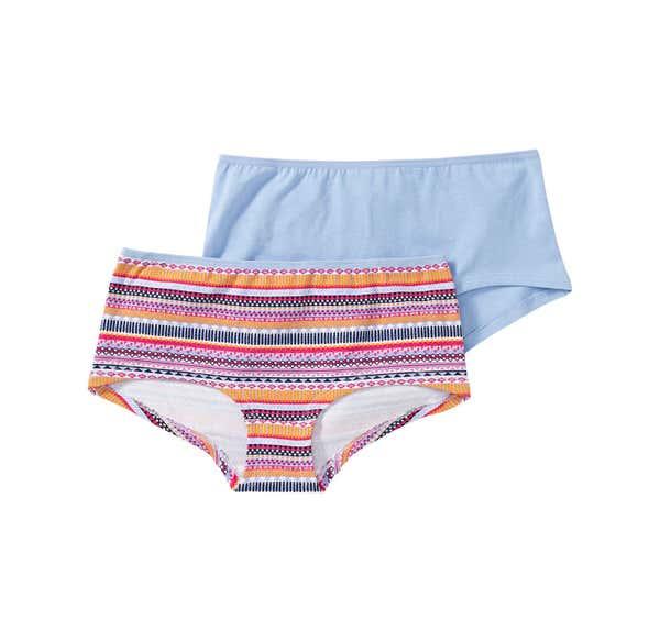 Mädchen-Panty mit hübschem Streifenmuster, 2er Pack