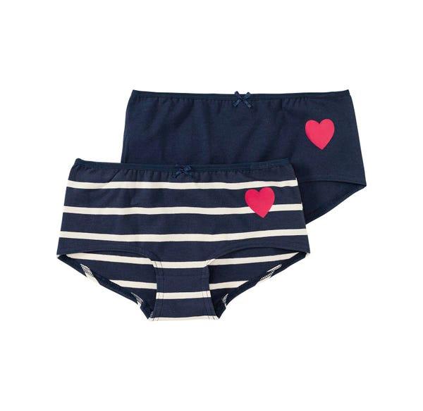 Mädchen-Panty mit Herz-Aufdruck