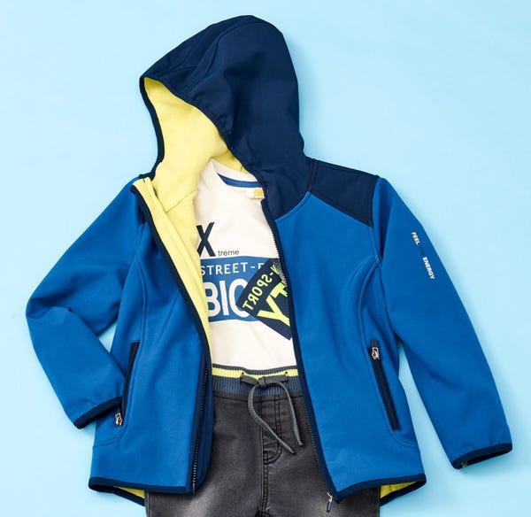 Jungen-Softshelljacke in coolem Design