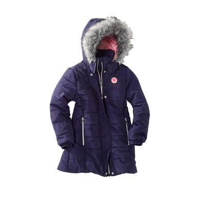 Mädchen-Jacke mit Kunstfell-Besatz