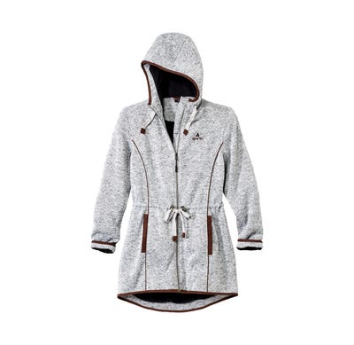 Damen-Strickfleecejacke in moderner Melange-Optik