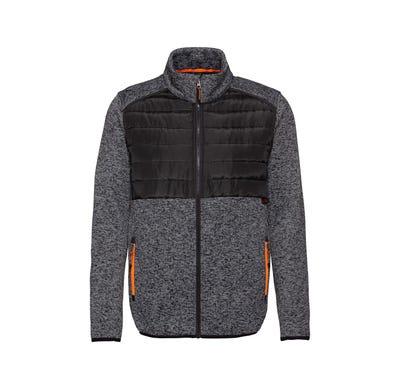 Herren-Strickfleece-Jacke mit Stepp-Einsatz