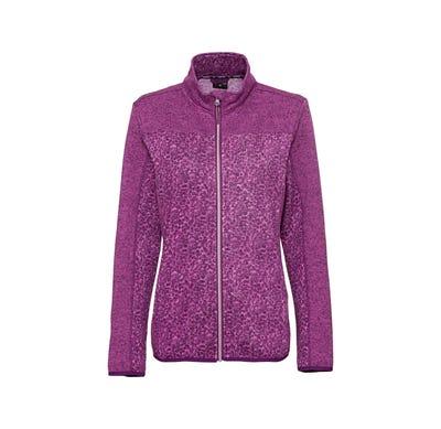 Damen-Strickfleece-Jacke mit Kontrast-Einsätzen