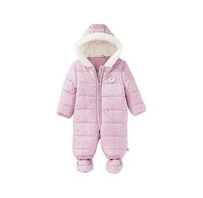 Baby-Mädchen-Overall mit Sternchen-Muster