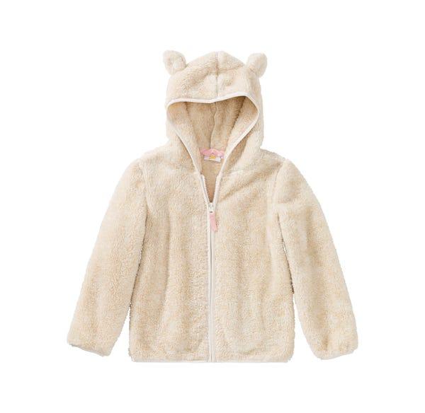 Mädchen-Jacke mit Teddy-Öhrchen