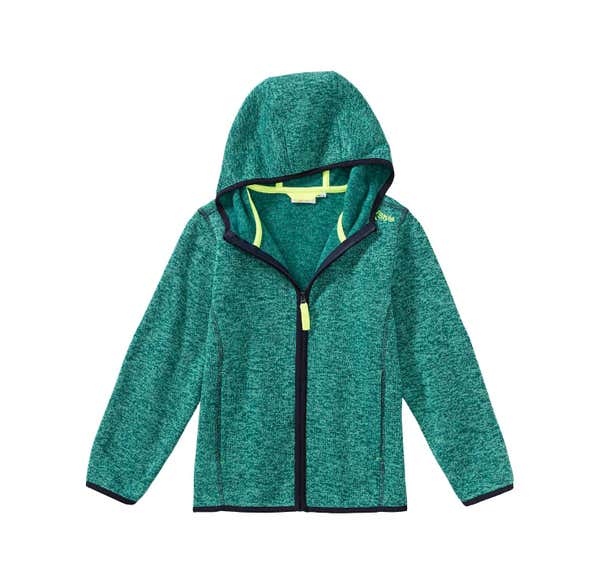 Jungen-Strickfleece-Jacke in Melange-Optik