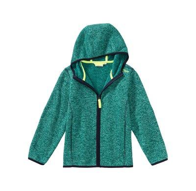 Jungen-Strickfleece-Jacke in Melange-Optik