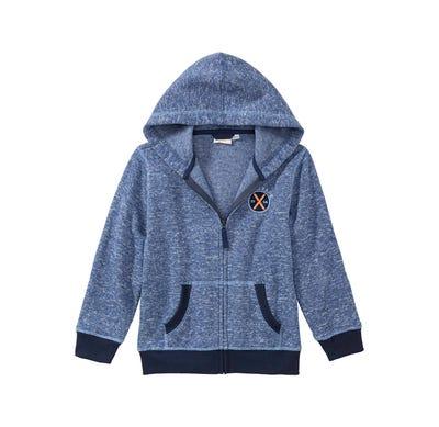 Jungen-Strickfleece-Jacke mit Kapuze