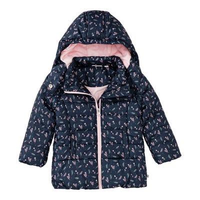Baby-Mädchen-Jacke mit winterlichem Muster