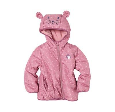 Baby-Mädchen-Jacke mit süßen Teddy-Ohren
