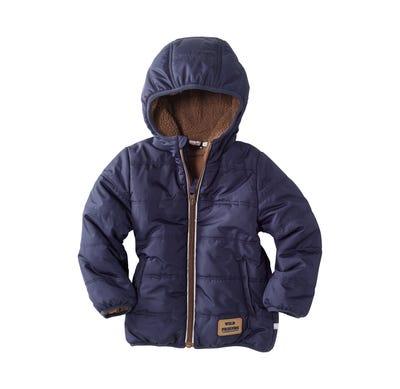 Baby-Jungen-Jacke mit weichem Teddyfleece
