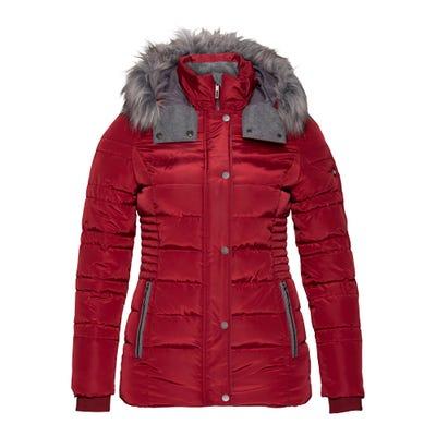 Damen-Jacke mit Pelzimitat