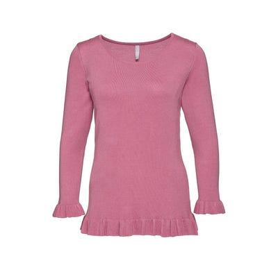Damen-Pullover mit hübschen Rüschen