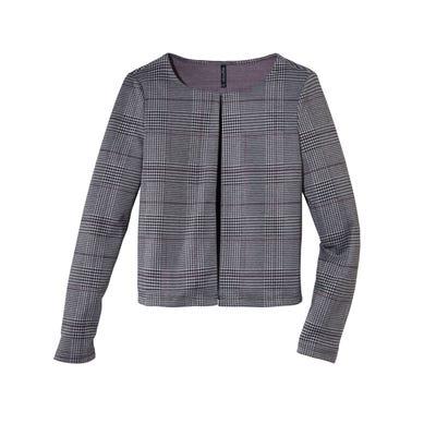 Damen-Jersey-Jacke mit Karomuster
