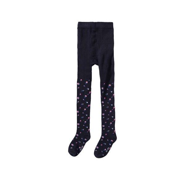 Mädchen-Strumpfhose mit Blümchen-Muster