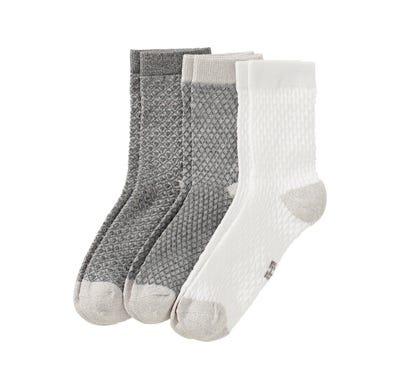 Damen-Socken mit Glitzer-Effekten, 3er Pack