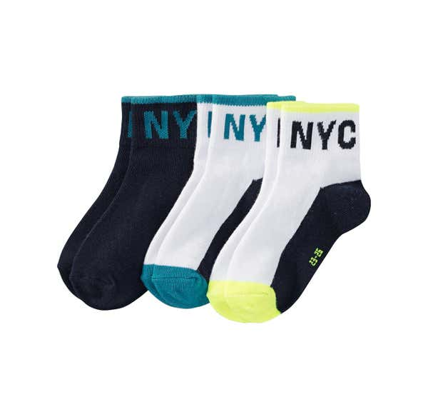 Kinder-Sportsocken mit NYC-Logo, 3er Pack