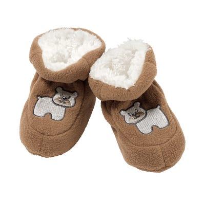 Baby-Jungen-Schühchen mit flauschigem Teddyplüsch
