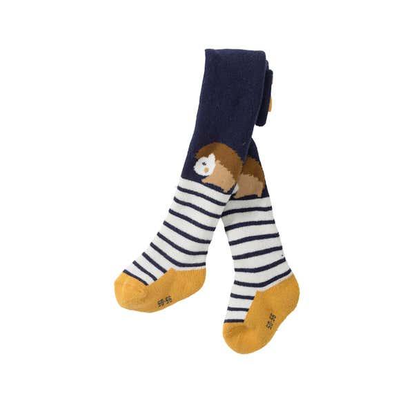 Baby-Jungen-Strumpfhose mit Igel-Motiven