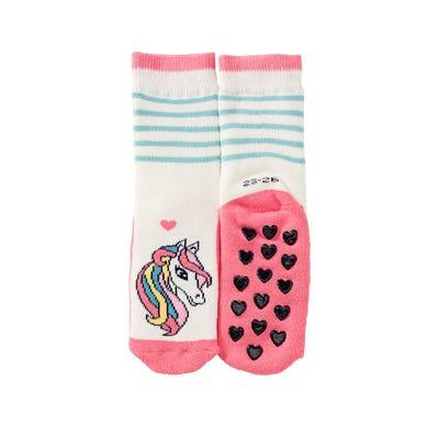 Mädchen-ABS-Socken mit süßem Einhorn