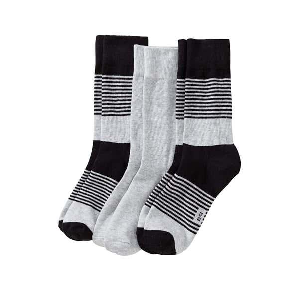 Herren-Socken mit Streifenmuster, 3er Pack